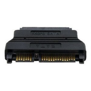Startech Micro Sata To Sata Adapter Cable With Power 16 Pin Micro Serial Ata Naaras 7 Nastan Serial Ata Uros Musta