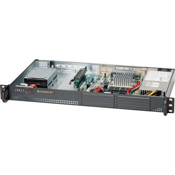Supermicro SuperServer 5015A-EHF-D525 1U. black