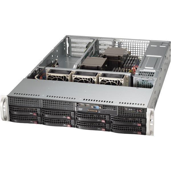 Supermicro SuperServer 6027R-WRF black täydennetään CPU/RAM/HDD