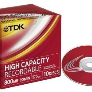 TDK CD-R 10-pk (JewelCase)