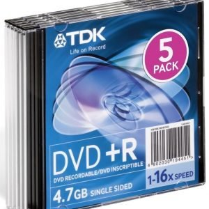 TDK DVD+R 5-pack (JewelCase)