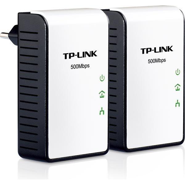 TP-LINK AV 500 Mini Powerline sovitinsarja 2-pak 500Mbps valk/musta