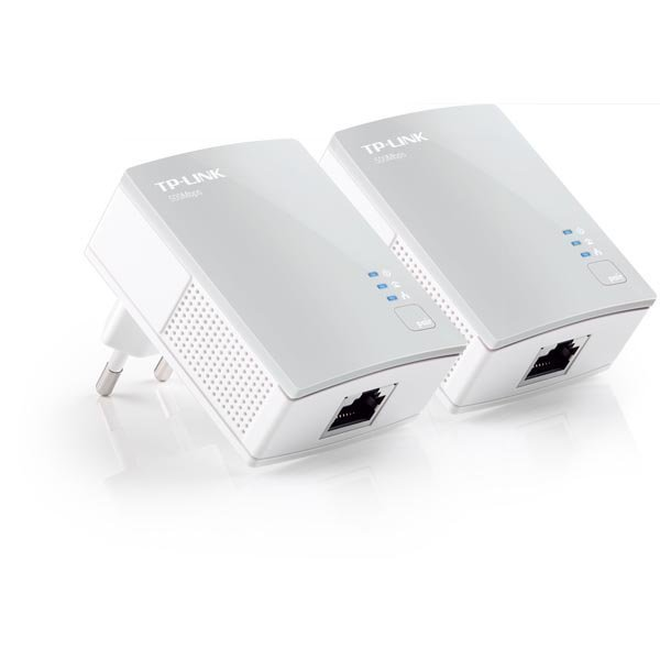 TP-LINK AV 500 Nano Powerline Adatper Starter Kit kaksi laitetta valk