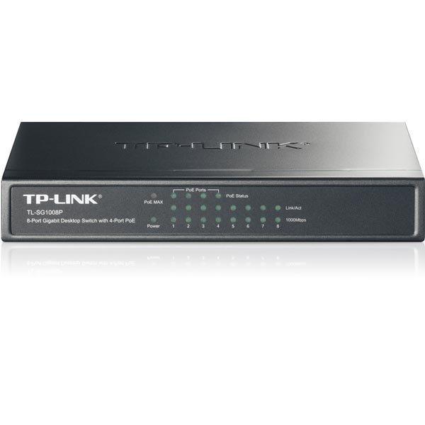 TP-LINK kytkin 8x10/100/1000Mbps RJ45 4xPoE pöytämalli musta