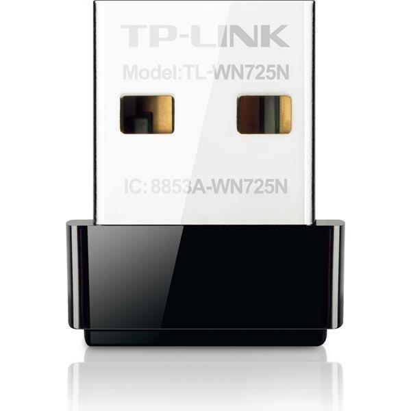 TP-LINK langaton verkkokortti nano USB 150Mbps 802.11b/g/n musta