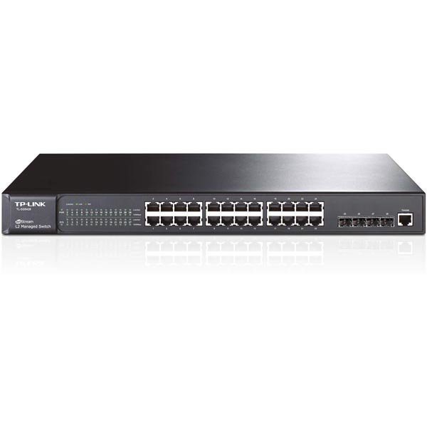 TP-LINK verkkokytkin 24xGigabit Ethernet RJ45 4xSFP L2