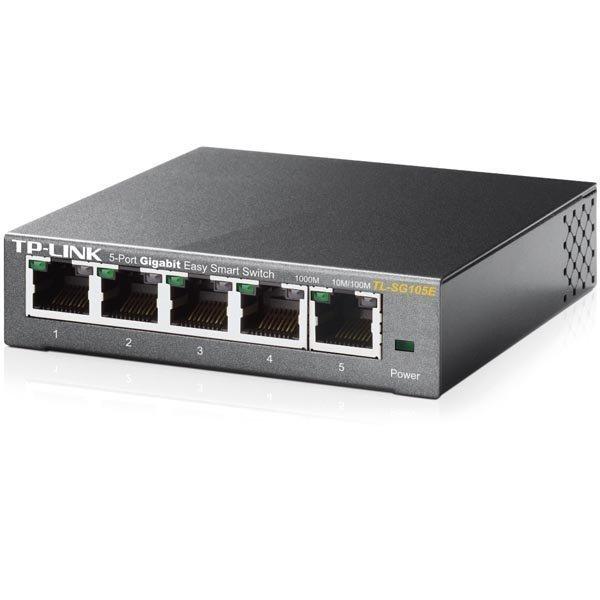 TP-Link verkkokytkin 5x10/100/1000Mbps RJ45 VLAN QoS IGMP