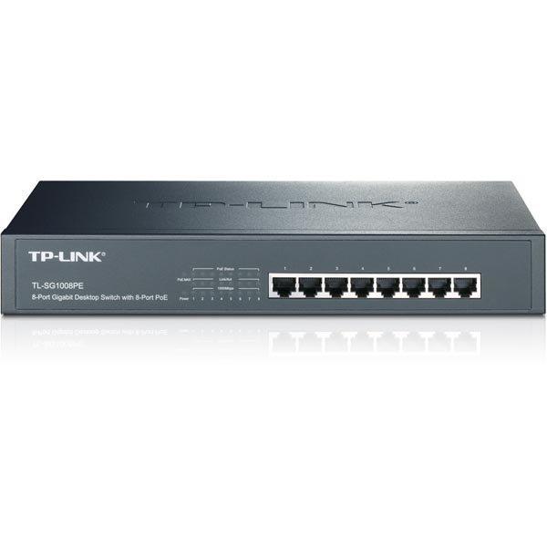 TP-Link verkkokytkin PoE+ 8 porttia 10/100/1000MB