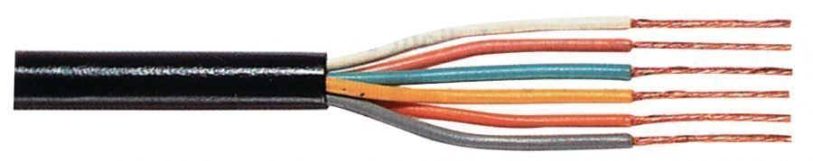 Taipuisa control johto 6 x 0.25 mm kelalla 100 m