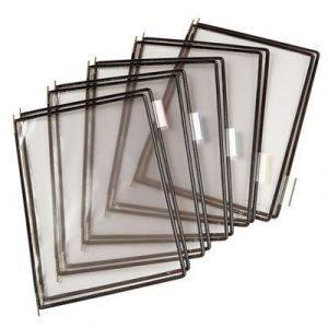 Tarifold Frames Pp A4 Black 10pcs