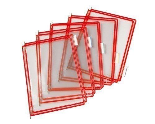 Tarifold Frames Pvc A4 Red 10pcs