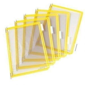 Tarifold Frames Pvc A4 Yellow 10pcs