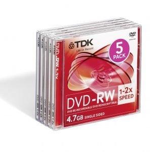 Tdk Dvd-Rw47 2x 5p Fjc 5 Kpl