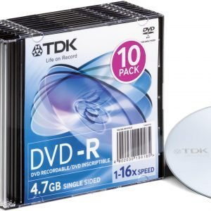Tdk Dvd+R47 16x 5p Fjc Color 5 Kpl