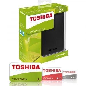 Toshiba Canvio Basics 2 Tb Ulkoinen Kovalevy