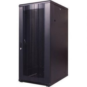 Toten 19 Floor Cabinet 22u 600x800 Perforerad Door Black