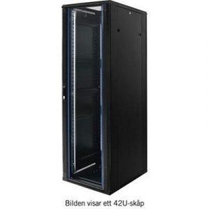Toten 19 Golvskåp 12u 600x800 Glasdörr Svart