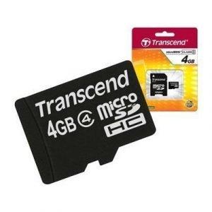 Transcend Flash-muistikortti Microsdhc 4gb