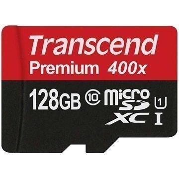 Transcend Premium 400x MicroSDXC Muistikortti 128Gt