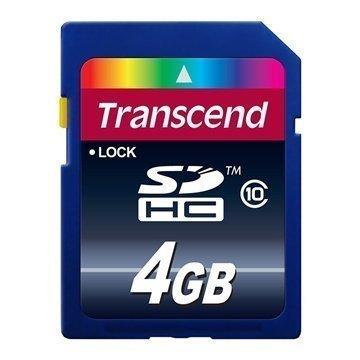 Transcend SDHC 4 GB Luokka 10 Muisti Kortti TS4GSDHC10