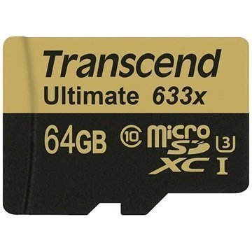 Transcend Ultimate 633X TS64GUSDU3 MicroSDXC Muistikortti 64Gt