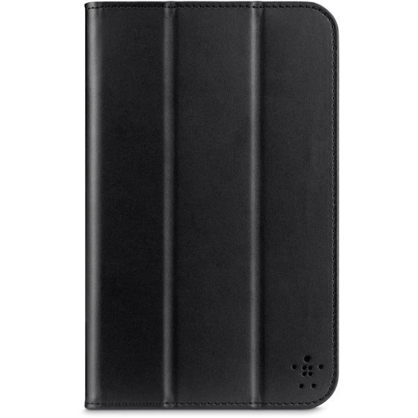 Tri-Fold L-Shaped suojus polyuretaani Galaxy Tab 3 7.0 tuki musta