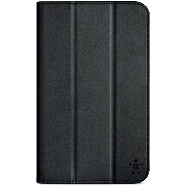 Tri-Fold polyuretaanisuojus Samsung Galaxy Tab 3 7.0 tabletille musta
