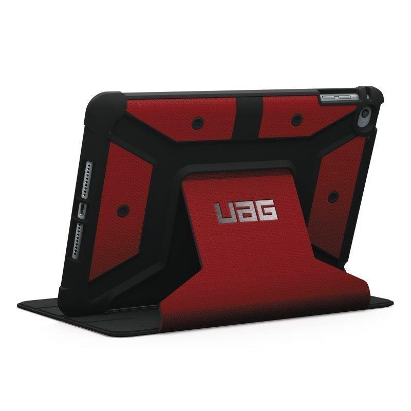UAG Urban Armor Gear Folio Scout kestävä suojakotelo iPad Mini 4 puna-musta