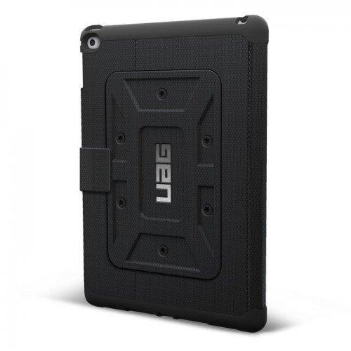 UAG Urban Armor Gear Rogue Folio kestävä suojakotelo iPad Air Musta