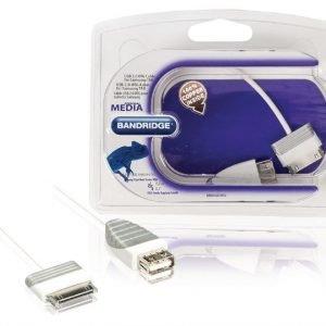 USB 2.0 OTG-kaapeli Samsung-taulutietokoneeseen Samsung 30-napainen uros - USB A naaras 0 2 m valkoinen
