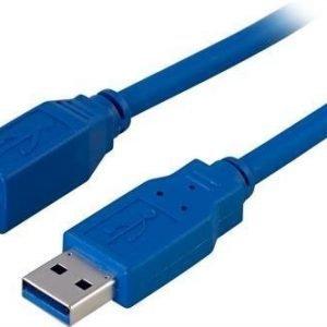 USB 3.0 kaapeli A-B u-u 3m sininen
