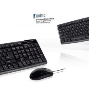 USB keyboard & optical mouse