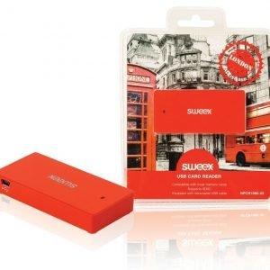 USB-kortinlukija London punainen
