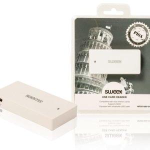 USB-kortinlukija Pisa valkoinen