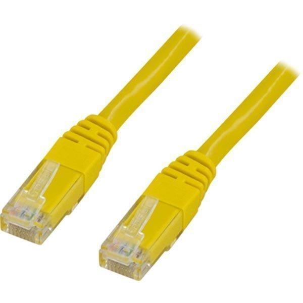 UTP Cat6 ristiinkytketty laitekaapeli 3 0m keltainen