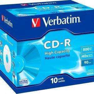 Verbatim CD-R 90min High-Capacity 10-pack (JewelCase)