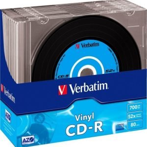 Verbatim CD-R Vinyl 10-pack (SlimCase)