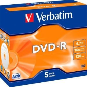 Verbatim DVD-R 5-pack (JewelCase)