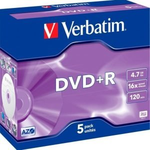 Verbatim DVD+R 5-pack (JewelCase)
