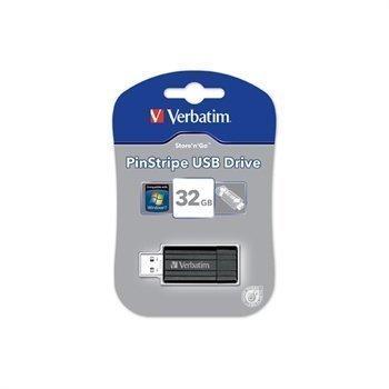 Verbatim PinStripe 32 Gt USB-Muistitikku Musta