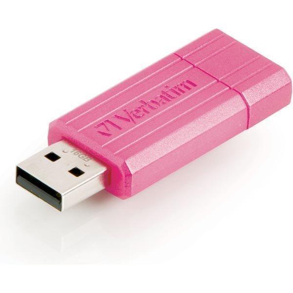 Verbatim USB 2.0 muisti Store'N'Go 16GB PinStripe vaaleanpunainen