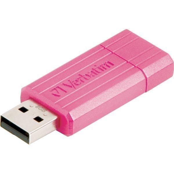 Verbatim USB 2.0 muisti Store'N'Go 8GB PinStripe USB vaal pun