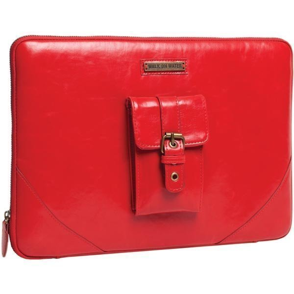 """Walk On Water Casablanca 13 laptop kotelo tekonahkaa punainen"""""""