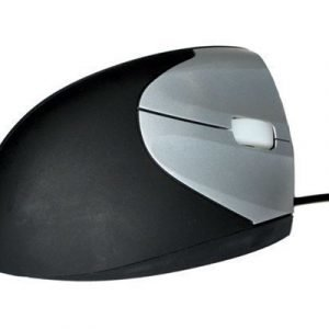 Westbase Evolution Srm Vertical Wired Mouse Left Hand Optinen Hiiri Musta Harmaa