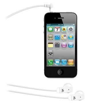 Xqisit PTT Stereo Nappikuulokkeet iPhone iPad Valkoinen