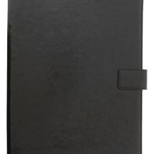 Yleiskäyttöinen 10 tuuman Folio-suojakotelo/teline tablet-laitteelle keinonahkaa musta