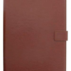 Yleiskäyttöinen 10 tuuman Folio-suojakotelo/teline tablet-laitteelle keinonahkaa ruskea
