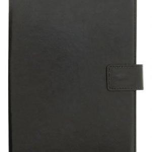 Yleiskäyttöinen 7 tuuman Folio-suojakotelo/teline tablet-laitteelle keinonahkaa musta