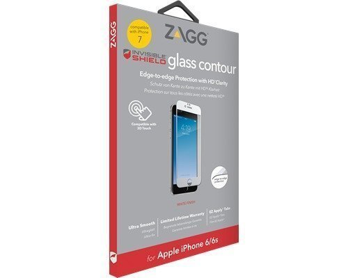 Zagg Invisible Shield Glass Contour White Iphone 7
