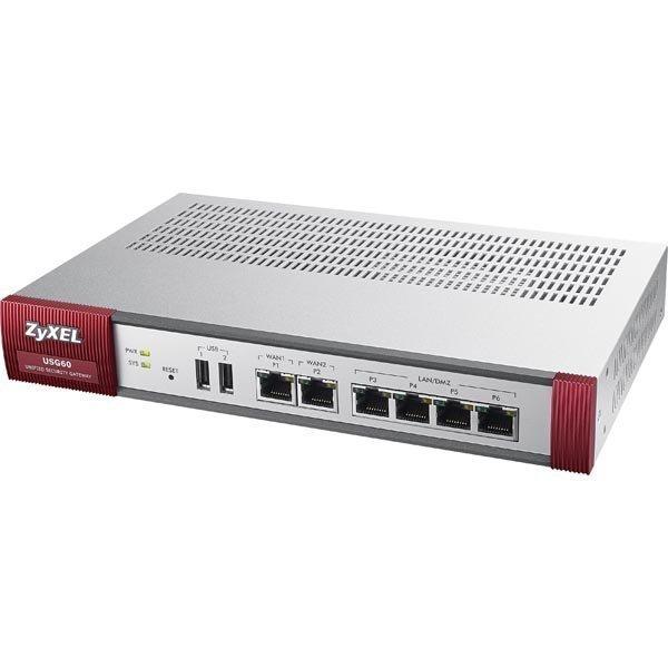 ZyXEL USG 60 Firewall Appliance 10/100/1000 4x LAN/DMZ 2x WAN